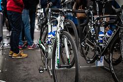 Specialized bike of Daniel Martin (IRL), Etixx-Quick Step at Liège, before the start of the 102th edition of Liège-Bastogne-Liège race running 253 km from Liège to Liège, Belgium, 24 April 2016.<br /> Photo by Pim Nijland / PelotonPhotos.com<br /> <br /> All photos usage must carry mandatory copyright credit (© Peloton Photos | Pim Nijland)