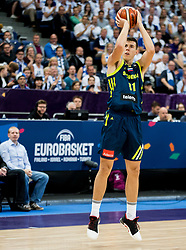 Vlatko Cancar of Slovenia during basketball match between National Teams of Finland and Slovenia at Day 3 of the FIBA EuroBasket 2017 at Hartwall Arena in Helsinki, Finland on September 2, 2017. Photo by Vid Ponikvar / Sportida