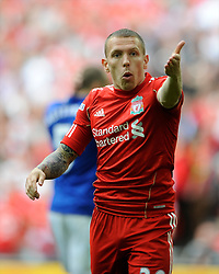 Craig Bellamy of Liverpool reacts during the Budweiser FA Cup semi final match between Liverpool and Everton at Wembley on Saturday 14 April 2012 (Photo by Rob Munro)
