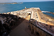 Overview of El Morro Fortress Old San Juan, Puerto Rico.