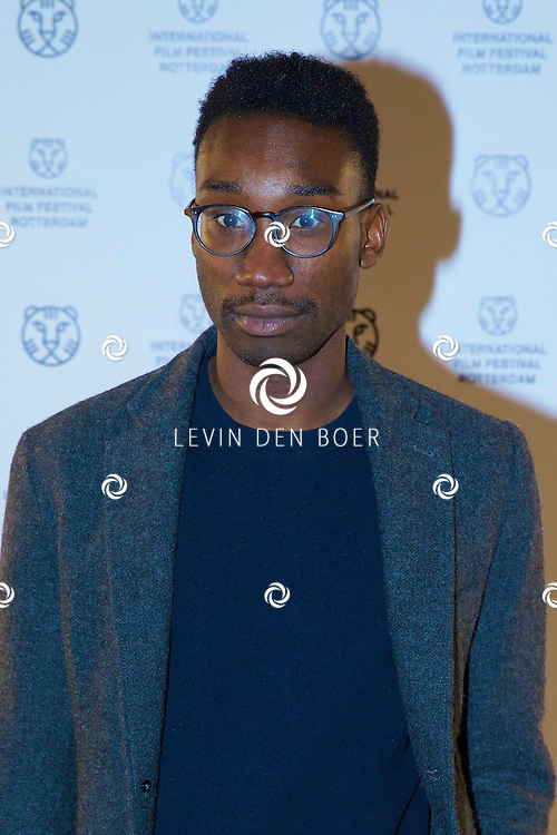 ROTTERDAM - In Theater De Goede Doelen is de 44ste International Film Festival Rotterdam geopend. Diversen genodigden en internationale sterren waren hierbij aanwezig. Met hier op de foto Acteur Nathan Stewart-Jarrett. FOTO LEVIN DEN BOER - PERSFOTO.NU