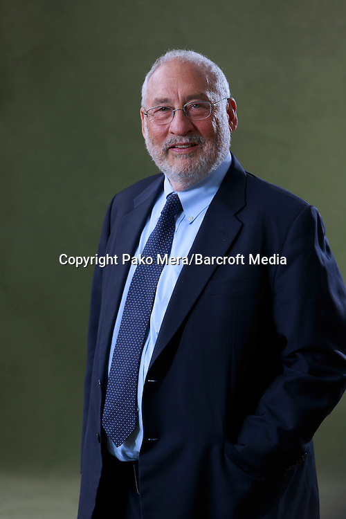 Edinburgh. United Kingdom. Joseph Stiglitz who is ForMemRS, FBA is an American economist and a professor at Columbia University. He is a recipient of the Nobel Memorial Prize in Economic Sciences and the John Bates Clark Medal poses for a photos taken in the Edinburgh International Book Festival. Pako Mera/Barcroft Media 01/08/2014