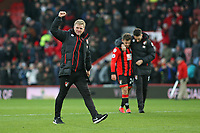 Football - 2016 / 2017 Premier League - AFC Bournemouth vs. Liverpool<br /> <br /> Bournemouth's Manager Eddie Howe celebrates at the final whistle as his side come from 3-1 down to beat Liverpool 4-3 at Dean Court (The Vitality Stadium) Bournemouth<br /> <br /> COLORSPORT/SHAUN BOGGUST