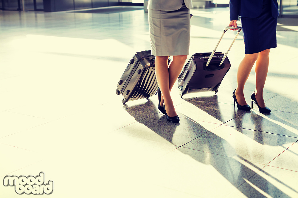 Business people walking with their suitcase in airport