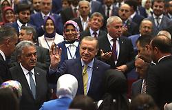 September 6, 2017 - Ankara, Türkiye - Turkey President Recep Tayyip Erdogan delivers a speech at Justice and Development Party's (AK Party) Provincial Heads meeting at Ankara, September 6th, 2017 (Credit Image: © Depo Photos via ZUMA Wire)