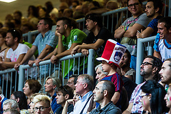 Slovenian fan during friendly basketball match between National teams of Slovenia and Italy at day 3 of Adecco Cup 2015, on August 23 in Koper, Slovenia. Photo by Grega Valancic / Sportida