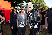 TOMO MILLECEVIC; JARED LETO; SHANNON LETO, The Summer Party. Serpentine Gallery. 8 July 2010. -DO NOT ARCHIVE-© Copyright Photograph by Dafydd Jones. 248 Clapham Rd. London SW9 0PZ. Tel 0207 820 0771. www.dafjones.com.