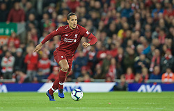 LIVERPOOL, ENGLAND - Friday, April 26, 2019: Liverpool's Virgil van Dijk during the FA Premier League match between Liverpool FC and Huddersfield Town AFC at Anfield. (Pic by David Rawcliffe/Propaganda)