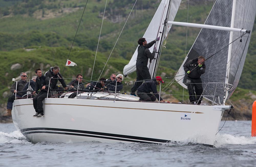 Silvers Marine Scottish Series 2017<br /> Tarbert Loch Fyne - Sailing Day 3<br /> <br /> GBR7745R, Eala of Rhu, J McGarry / C Moore, RNCYC, Swan 45.