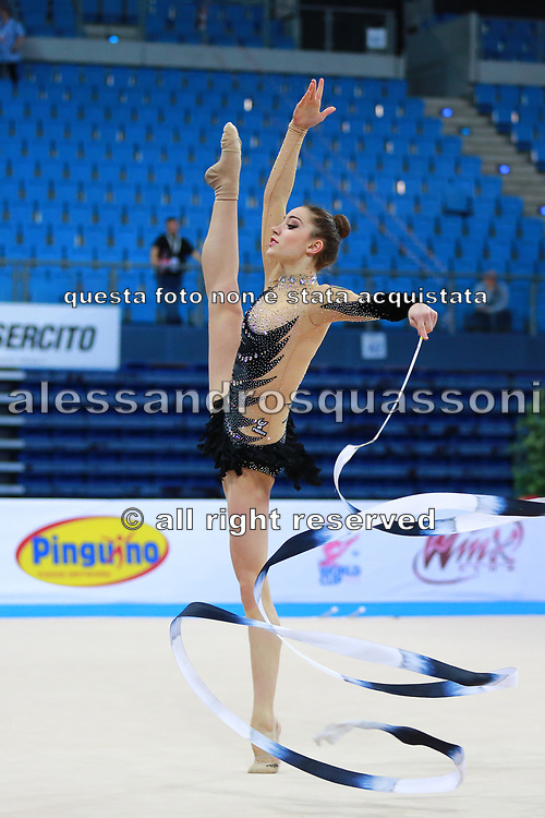 Letizia Cicconcelli during an exhibition in Pesaro World Cup 11 April 2015.