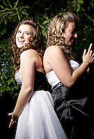 Felicia Pollos and Katie Mills hang out before the Coeur d'Alene High homecoming dance Saturday, Oct. 15, 2011.