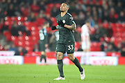 Gabriel Jesus during the Premier League match between Stoke City and Manchester City at the Bet365 Stadium, Stoke-on-Trent, England on 12 March 2018. Picture by Graham Holt.