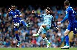 David Silva of Manchester City and Riyad Mahrez of Leicester City - Mandatory by-line: Matt McNulty/JMP - 13/05/2017 - FOOTBALL - Etihad Stadium - Manchester, England - Manchester City v Leicester City - Premier League