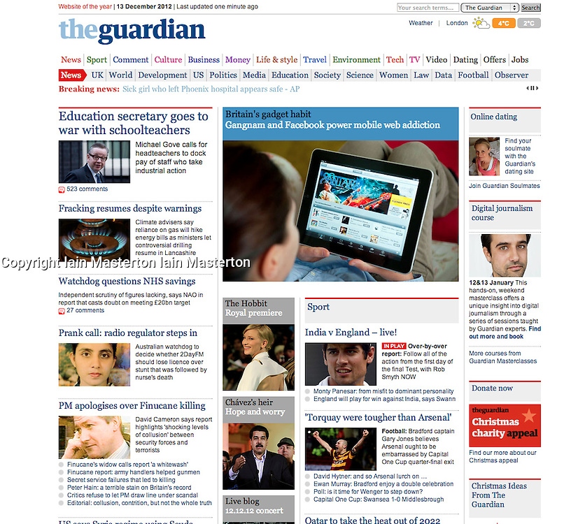 Guardian online; woman using iPad to look at iTunes music store