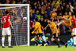 Ruben Neves of Wolverhampton Wanderers celebrates scoring a goal to make it 1-1 - Mandatory by-line: Robbie Stephenson/JMP - 19/08/2019 - FOOTBALL - Molineux - Wolverhampton, England - Wolverhampton Wanderers v Manchester United - Premier League