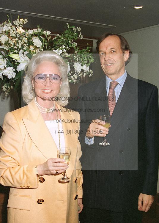 BARON & BARONESS VON NIDDA at a dinner in London on April 28th 1997.LXZ 7