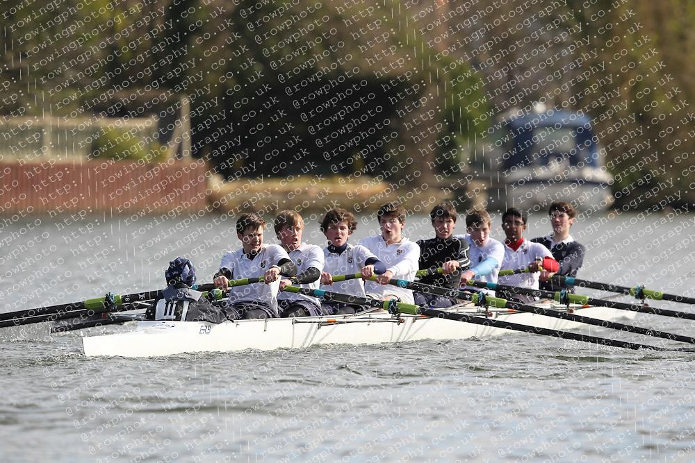 2012.02.25 Reading University Head 2012. The River Thames. Division 1. Eton College Boat Club B J15A 8+