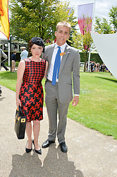 WILL WELLS and DAISY LEWIS at the Qatar Goodwood Festival - Ladies Day held at Goodwood Racecourse, West Sussex on 30th July 2015.