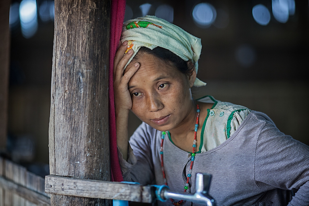 Ethnic Karen refugees seek medical aid at a neonatal clinic inside the Mae Hla refugee camp along the Thai-Burma border.