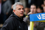 Nottingham Forest interim manager Gary Brazil during the EFL Sky Bet Championship match between Burton Albion and Nottingham Forest at the Pirelli Stadium, Burton upon Trent, England on 11 March 2017. Photo by Richard Holmes.