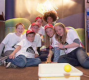 Darragh Gleeson, Luke McManus, Nils Parsons, Eohy Bernede, Swiss Ediagbonya, Kara McCleane and Ava McCleane Galway Educate Together NS at the Medtronic Community Event , comprising of projects about Healthy Living and the heart, KNEX finals and Lean Sigma catapult competitionorganised by the Galway Education Centre at the Radisson Blu Hotel Galway. Photo:Andrew Downes.
