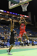 Leicester Riders go for basket during the Betway British Basketball All-Stars Championship at the O2 Arena, London, United Kingdom on 24 September 2017. Photo by Martin Cole.