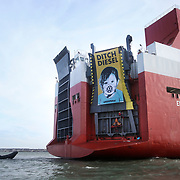 Greenpeace board cargo ship with VW diesel cars