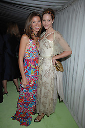 Left to right, HEATHER KERZNER and TRINNY WOODALL at the annual Cartier Chelsea Flower Show dinner held at the Chelsea Physic Garden, London on 21st May 2007.<br /><br />NON EXCLUSIVE - WORLD RIGHTS