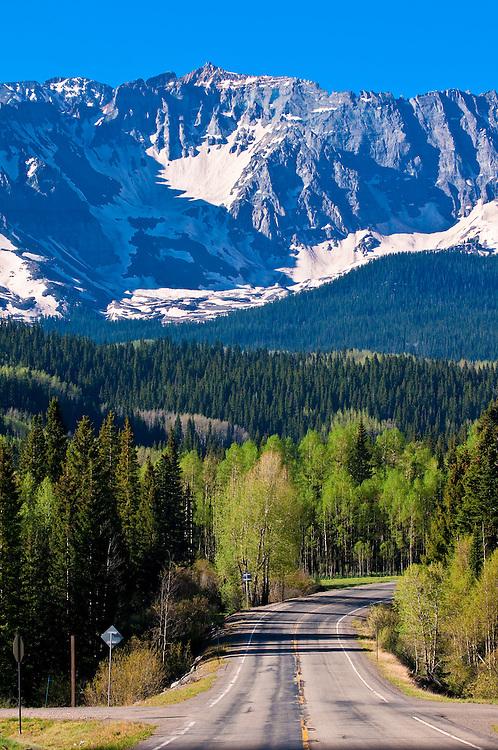 Views along Colorado Highway 145, San Juan Mountains near Telluride, Colorado USA