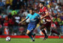 Alexis Sanchez of Arsenal takes on Emre Can of Liverpool  - Mandatory by-line: Matt McNulty/JMP - 27/08/2017 - FOOTBALL - Anfield - Liverpool, England - Liverpool v Arsenal - Premier League