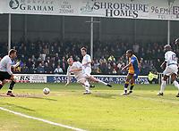 Photo: Mark Stephenson.<br />Shrewsbury Town v Torquay United. Coca Cola League 2. 24/03/2007. Shrewsbury's Derek Asamoah (No.10) shoots at goal