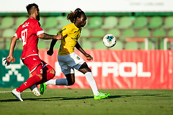 Nemanja Jakšić of Aluminij vs Ibrahim Arafat Mensah of Bravo during football match between NK Bravo and NK Aluminij in 5th Round of Prva liga Telekom Slovenije 2019/20, on August 9, 2019 in Sports park ZAK, Ljubljana, Slovenia. Photo by Vid Ponikvar / Sportida