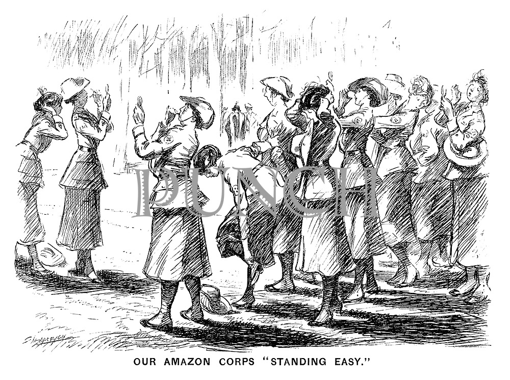 "Our Amazon Corps ""Standing Easy."""