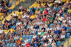 Spectators during football match between NK Celje and NK Rudar Velenje in 3rd Round of Prva liga NZS 2012/13, on July 28, 2012 in Arena Petrol, Celje, Slovenia. (Photo by Vid Ponikvar / Sportida.com)