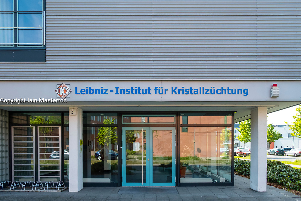 Liebniz Institute for  Crystal Cultivation Kristallzuchtung (LKZ)  at Adlershof Science and Technology Park  Park in Berlin, Germany