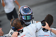 Lance Stroll of Williams Martin celebrates third place in the Azerbaijan Formula One Grand Prix at Baku City Circuit, Baku<br /> Picture by EXPA Pictures/Focus Images Ltd 07814482222<br /> 25/06/2017<br /> *** UK &amp; IRELAND ONLY ***<br /> <br /> EXPA-EIB-170625-0057.jpg