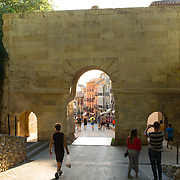 Granada, Spain stone gate/arch leading into town, built in the 10th century.<br />