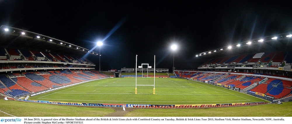 10 June 2013; A general view of the Hunter Stadium ahead of the British & Irish Lions clash with Combined Country on Tuesday. British & Irish Lions Tour 2013, Stadium Visit, Hunter Stadium, Newcastle, NSW, Australia. Picture credit: Stephen McCarthy / SPORTSFILE