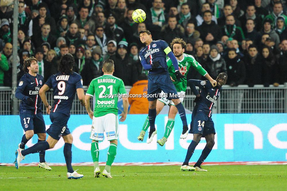 Thiago SILVA - 25.01.2015 - Saint Etienne / PSG - 22eme journee de Ligue1<br /> Photo : Jean Paul Thomas / Icon Sport