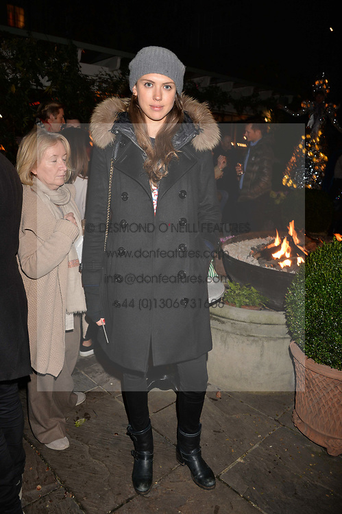 Sabrina Percy at The Ivy Chelsea Garden's Guy Fawkes Party, 197 King's Road, London, England. 05 November 2017.