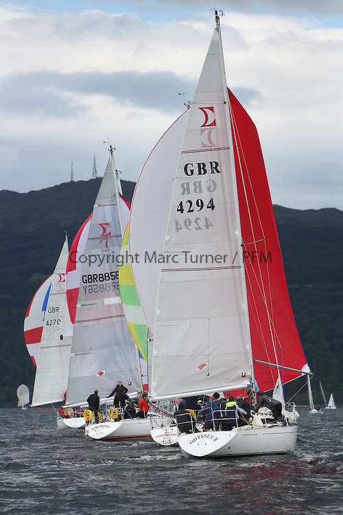 The Silvers Marine Scottish Series 2014, organised by the  Clyde Cruising Club,  celebrates it's 40th anniversary.<br /> Day 3, Sigma 33, GBR8856Y, Mayrise, James Miller, Helensburgh SC<br /> Racing on Loch Fyne from 23rd-26th May 2014<br /> <br /> Credit : Marc Turner / PFM