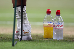 Rafael Nadal drink's bottles during his match against Novak Djokovic on day eleven of the Wimbledon Championships at the All England Lawn Tennis and Croquet Club, Wimbledon. PRESS ASSOCIATION Photo. Picture date: Saturday July 14, 2018. See PA story TENNIS Wimbledon. Photo credit should read: Daniel Leal-Olivas/PA Wire. RESTRICTIONS: Editorial use only. No commercial use without prior written consent of the AELTC. Still image use only - no moving images to emulate broadcast. No superimposing or removal of sponsor/ad logos. Call +44 (0)1158 447447 for further information.