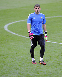 Real Madrid's Iker Casillas - Photo mandatory by-line: Joe Meredith/JMP - Mobile: 07966 386802 11/08/2014 - SPORT - FOOTBALL - Cardiff - Cardiff City Stadium - Real Madrid v Sevilla - UEFA Super Cup - Press Conference and Open Training session