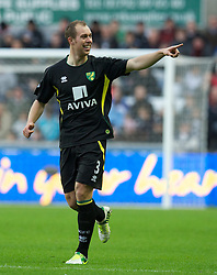 08.12.2012, Liberty Stadion, Swansea, ENG, Premier League, Swansea City vs Norwich City, 16. Runde, im Bild Norwich City's Steven Whittaker celebrates scoring the first goal against Swansea City during the English Premier League 16th round match between Swansea City AFC and Norwich City FC at the Liberty Stadium, Swansea, Great Britain on 2012/12/08. EXPA Pictures © 2012, PhotoCredit: EXPA/ Propagandaphoto/ David Rawcliffe..***** ATTENTION - OUT OF ENG, GBR, UK *****