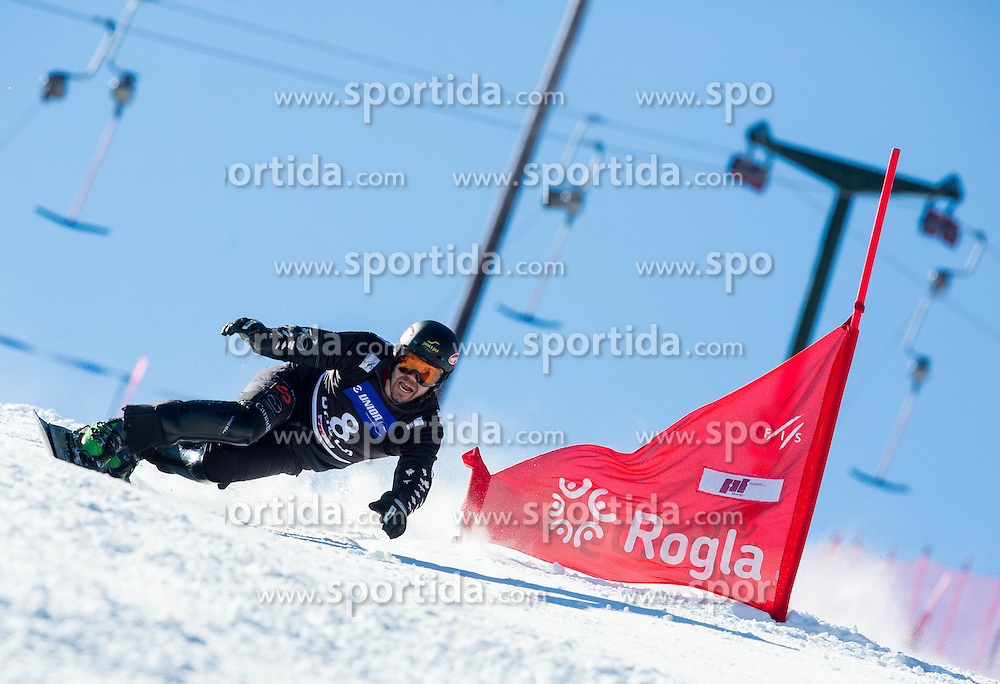 Jasey Jay Anderson of Canada competes during Qualification Run of Men's Parallel Giant Slalom at FIS Snowboard World Cup Rogla 2015, on January 31, 2015 in Course Jasa, Rogla, Slovenia. Photo by Vid Ponikvar / Sportida