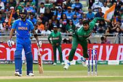 Soumya Sarkar of Bangladesh bowling during the ICC Cricket World Cup 2019 match between Bangladesh and India at Edgbaston, Birmingham, United Kingdom on 2 July 2019.