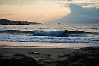 Sunrise coastal scene at the Pacific Ocean in Mazunte, Oaxaca State, Mexcio.