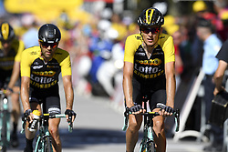 July 4, 2017 - Mondorf Les Bains / Vittel, Luxembourg / France - VITTEL, FRANCE - JULY 4 : MARTENS Paul (GER) Rider of Team Lotto NL - Jumbo, GESINK Robert (NED) Rider of Team Lotto NL - Jumbo during stage 4 of the 104th edition of the 2017 Tour de France cycling race, a stage of 207.5 kms between Mondorf-Les-Bains and Vittel on July 04, 2017 in Vittel, France, 4/07/2017 (Credit Image: © Panoramic via ZUMA Press)