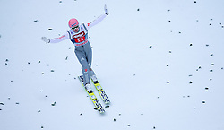 04.01.2015, Bergisel Schanze, Innsbruck, AUT, FIS Ski Sprung Weltcup, 63. Vierschanzentournee, Innsbruck, 2. Wertungsdurchgang, im Bild Severin Freund (GER) // Severin Freund of Germany reacts after his second competition jump for the 63rd Four Hills Tournament of FIS Ski Jumping World Cup at the Bergisel Schanze in Innsbruck, Austria on 2015/01/04. EXPA Pictures © 2015, PhotoCredit: EXPA/ JFK