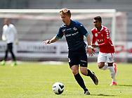 FODBOLD: Tobias Christensen (FC Helsingør) under kampen i NordicBet Ligaen mellem Vejle Boldklub og FC Helsingør den 21. maj 2017 på Vejle Stadion. Foto: Claus Birch